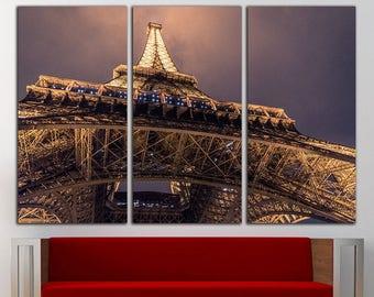 Paris print Paris canvas Paris wall art Paris wall decor Eiffel Tower canvas Eiffel Tower wall decor Eiffel Tower art Urban Lagre Canvas