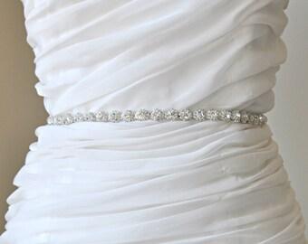 Ready To Ship Bridal crystal belt , rhinestone sash, bridal sash, bridal belt