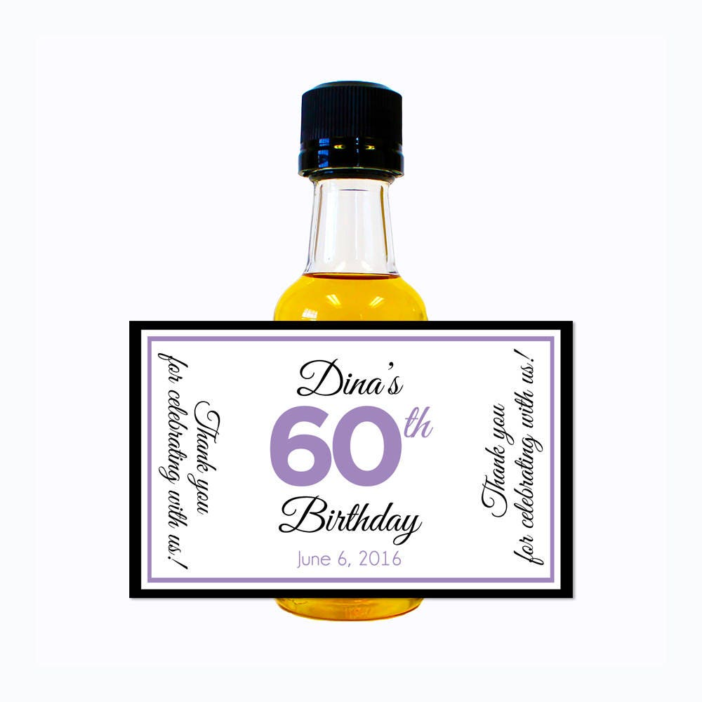 Custom Liquor Mini Bottle Labels Adult Birthday Favors