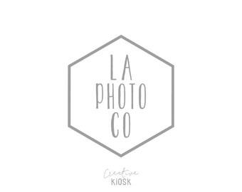 Geometric Logo. Logo Photoshop. Hexagon Logo. Website Logo. Photography Logo. Instant Download. DIY Business Branding. Watermark. #0466.
