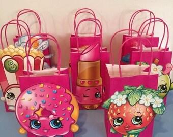 Kids themed favor bags