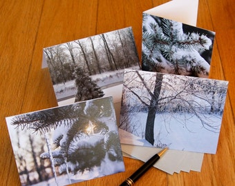Blank Notecard Set - Four Winter Scenes