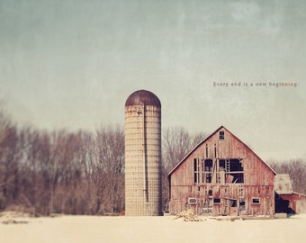 Abandoned House, Winter Photography, Red Barn House, Inspirational Quote, Farm House, Abandoned Barn, Farmhouse Decor, Barnhouse Art
