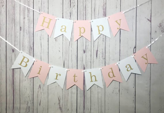 happy birthday banner first birthday 1st birthday girl
