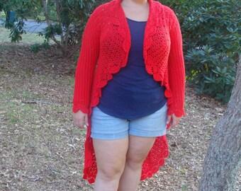 Stunning Cardigan Long Tail Sweater pdf 753