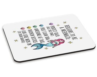 Reasons To Be A Mermaid PC Computer Mouse Mat Pad