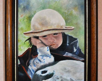 The little Shepherdess oil on canvas