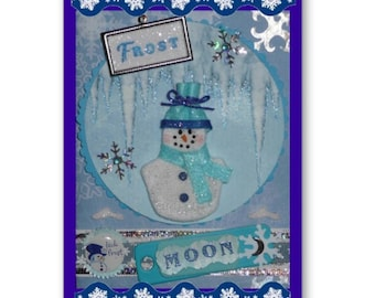FROST Moon JANUARY Note Card 12 FAIRY Moons, Pagan, Wicca, Holiday