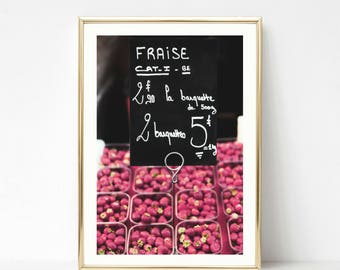 French Photography // Kitchen Prints Art Decor // French // Food Photography // Colorful Large Kitchen Art // French Market // Kitchen Decor