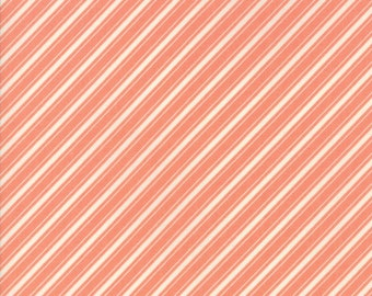 Ella and Ollie - Ticking Stripe in Apricot : sku 20306-22 cotton quilting fabric by Fig Tree and Co. for Moda Fabrics
