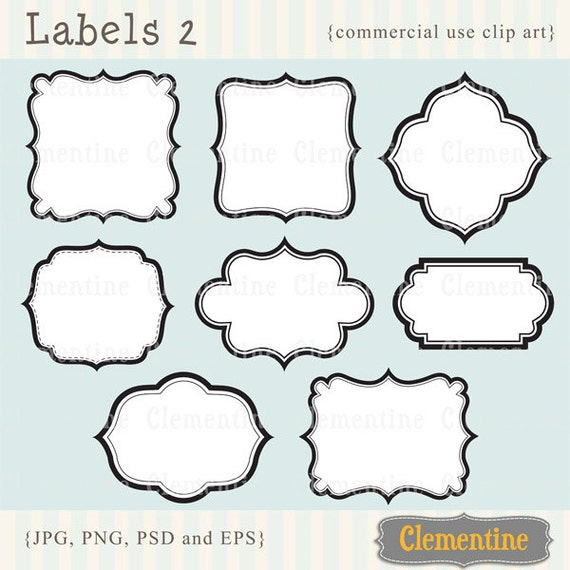printable labels clip art images scrapbook clip art royalty free layered in psd labels 2 instant download from clementinedigitals on etsy studio