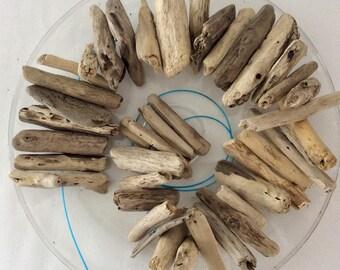 Driftwood - drilled - DIY Garland - Beach Wedding Decor - Pick the amount - crafting supplies -  natural wood - Hawaiian driftwood