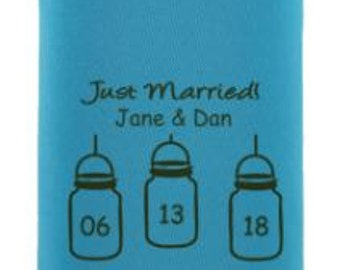 Wedding Can Coolers - Mason Jars ***FREE Shipping***  2056