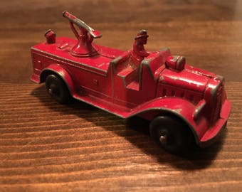 Tootsie Toy Insurance Patrol Fire Truck