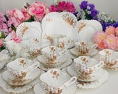 Stunning antique tea service for 6, Wileman 1889, perfect wedding gift