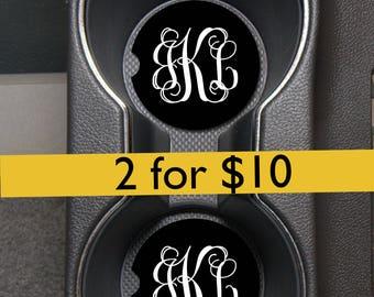 Monogram Car Coasters/Custom Car Coasters/Sandstone Car Coaster/Monogram Car Accessories/Monogram Car Coasters/Personalized Coasters