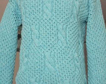Aqua wool sweater no. 267
