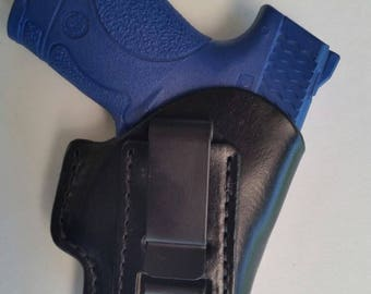 Smith and Wesson M&P Shield  Leather Holster (Inside The Waistband)