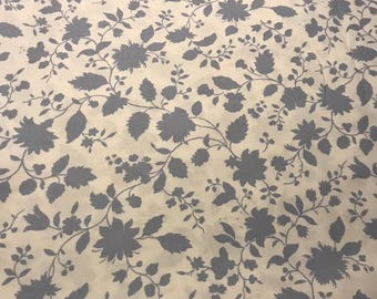 Blue/Gray Floral on White Background, Violette by Amy Butler for Westminster, 100% Cotton
