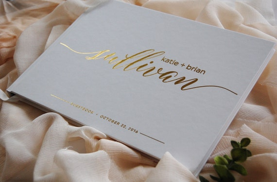 Wedding Book Cover Ideas : Wedding guest book guestbook custom
