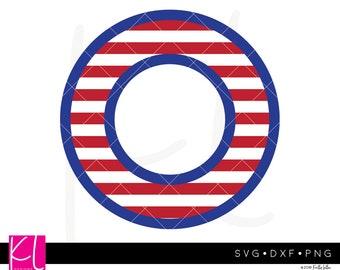 American Flag Monogram svg, Nautical Monogram svg, 4th of July Monogram svg, Summer Monogram svg, Circle Monogram svg, Patriotic Monogram
