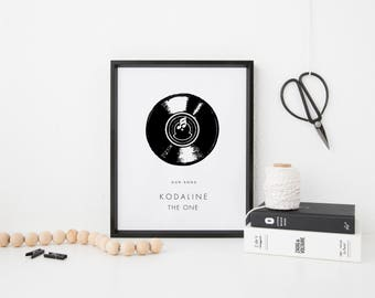 Personalised Our Song Print