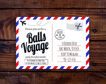 Vasectomy party invitation editable digital download vasectomy party invitation editable digital download balls voyage theme 5x7 stopboris Image collections