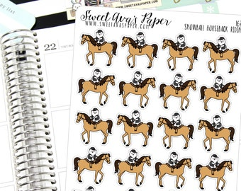 Horse Planner Stickers - Riding Lessons Stickers - Cat Planner Stickers - Horseback Riding Stickers - Lesson Planner Stickers - 1676