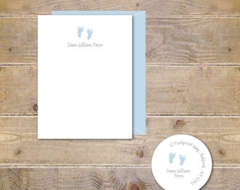 Baby Thank You Cards, Baby Shower Thank You Cards, Baby Shower Thank You Note, Thank You Cards Baby, Baby Announcement, New Baby - Tiny Feet