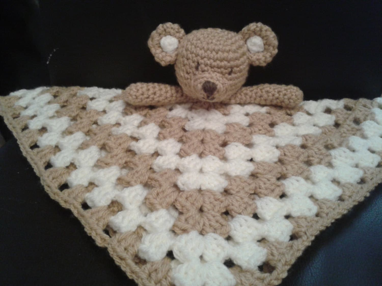Teddy Bear Security Blanket Baby Lovey Comforter Blankie Lovie ...