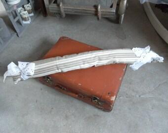 Bottom door country shabby chic LCV ticking cushion *.