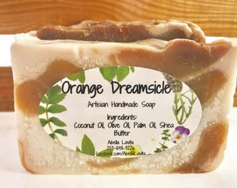 Orange Dreamsicle Handmade Artisan Soap