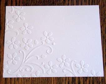 ELEGANT BOUQUET Embossed Card Stock Panels Perfect for Scrapbooking and Card Making - Set of 12