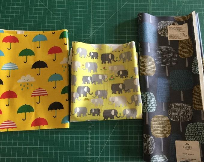 Scrap Pack - Organic Laminated Cotton Fabric