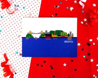 Cityscapes Postcard - Bristol Postcard - Bristol Print - City Skyline Postcard