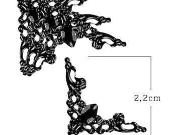 Black tone model A little of 2.2 cm decorative corner style baroque set of 4 pieces.