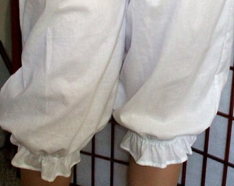 Basic Bloomers 6X-8X Cotton Frugal Frills Plus Size Custom Made