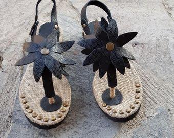 black Women Sandals,Handmade women Sandals,Leather Sandals,Natural Sandals,Authentich Sandal,Bohemain Sandals,summer sandal,costume sandals