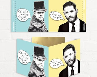 Tom Hardy Card Birthday Funny Double Sided Display Card James Delaney Taboo Hardy Fans Pop Culture Swoon Love Mum