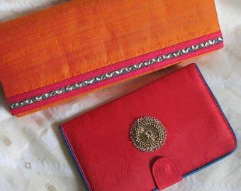 Silk Clutch + Passport/Photo Holder (Set)