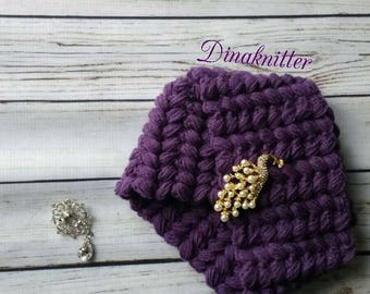 Knitted turban Turban hat Crochet turban Winter beanie Knitted hat Women's turban Fashion turban Retro turban Turban headwrap Wool turban.