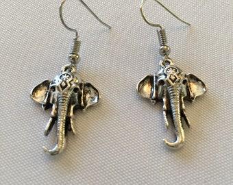 Good Luck Elephant Earrings Pierced