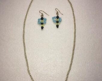 Sweet As Honey Necklace & Earring Set