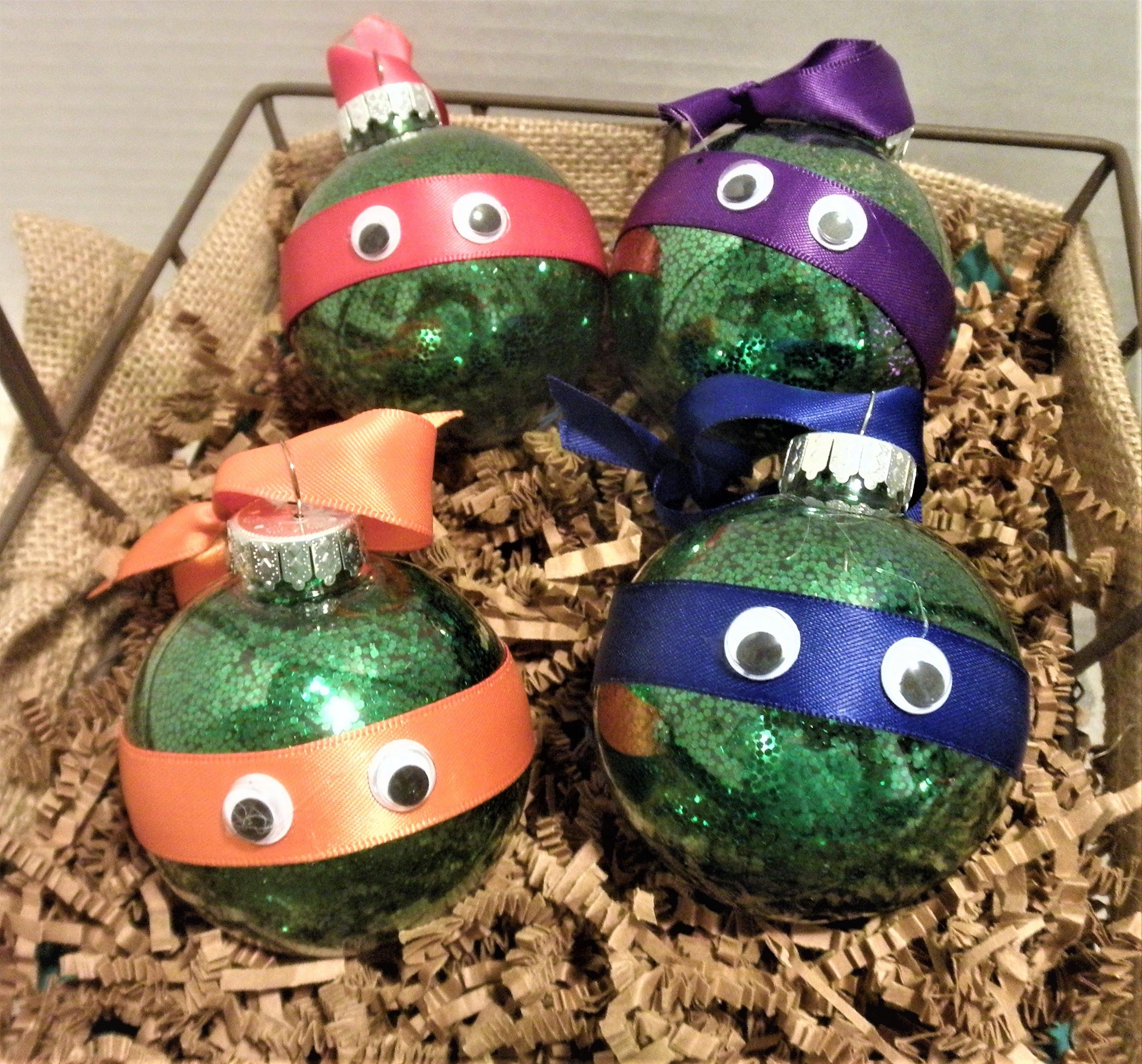 Ninja Turtle Ornament / Glitter Ornaments / Holiday Ornaments ...