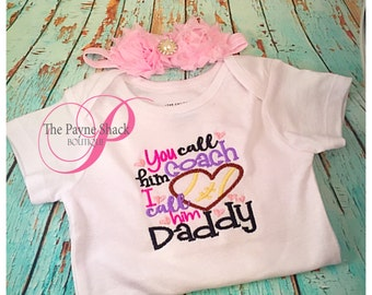 I call him my Daddy Bodysuit, Newborn Baby Clothes, Embroidery, Take Home Outfit, Baby Onesie, Newborn Onesie
