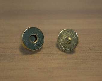Magnetic Snaps Closures Golden plated 14mm - 10 sets (0166)