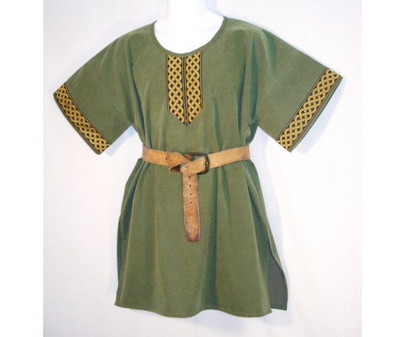 Men's Sz Sm Medieval Viking or Robin Hood Green Cotton/Poly Tunic Shirt SCA LARP YFPsSpfCv6
