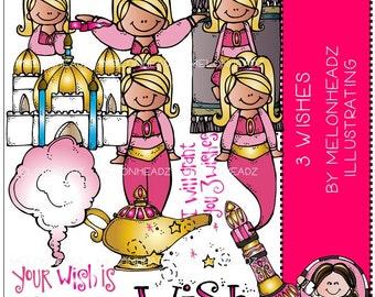 Genie clip art - Three Wishes