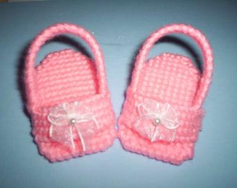 Needlepoint plastic canvas doll sandals