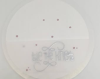 Tie The Knot card, wedding, handmade, handcrafted, white and silver, greeting card